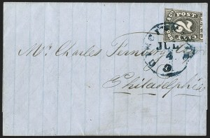 Sale Number 1206, Lot Number 758, Carriers and LocalsBrowne & Co.'s City Post Office, Cincinnati O., 2c Black (29L2), Browne & Co.'s City Post Office, Cincinnati O., 2c Black (29L2)