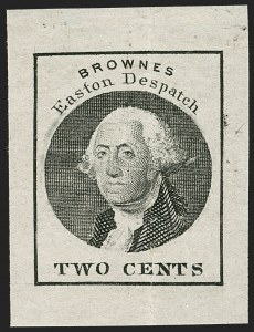 Sale Number 1206, Lot Number 759, Carriers and LocalsBrowne's Easton Despatch, Easton Pa., 2c Black (30L3), Browne's Easton Despatch, Easton Pa., 2c Black (30L3)
