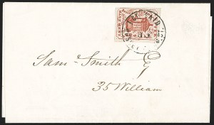 Sale Number 1206, Lot Number 765, Carriers and LocalsHussey's Post, New York N.Y., 1c Brown Red (87L4), Hussey's Post, New York N.Y., 1c Brown Red (87L4)