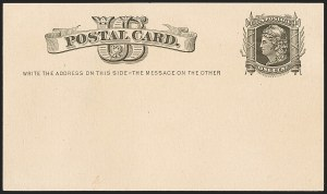 "Sale Number 1206, Lot Number 785, Postal Stationery1c Black on Buff, Postal Card, Watermarked Small ""USPOD"" in Monogram (UX4; USPCC S3), 1c Black on Buff, Postal Card, Watermarked Small ""USPOD"" in Monogram (UX4; USPCC S3)"