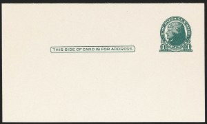 Sale Number 1206, Lot Number 787, Postal Stationery1c Green, Die I, Gray Rough-Surfaced Postal Card (UX27C; USPCC S38), 1c Green, Die I, Gray Rough-Surfaced Postal Card (UX27C; USPCC S38)