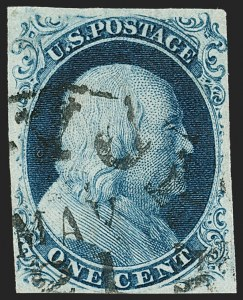 Sale Number 1206, Lot Number 79, 1851-56 Issue (Scott 8-17)1c Blue, Ty. III (8), 1c Blue, Ty. III (8)