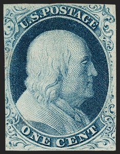 Sale Number 1206, Lot Number 80, 1851-56 Issue (Scott 8-17)1c Blue, Ty. IIIa (8A), 1c Blue, Ty. IIIa (8A)
