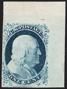 Sale Number 1206, Lot Number 81, 1851-56 Issue (Scott 8-17)1c Blue, Ty. IV (9), 1c Blue, Ty. IV (9)