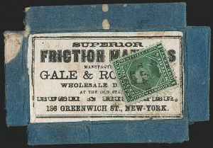 Sale Number 1206, Lot Number 820, Private Die ProprietaryT. Gorman & Bro., 1c Green, Old Paper (RO98a), T. Gorman & Bro., 1c Green, Old Paper (RO98a)