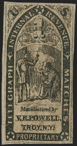 Sale Number 1206, Lot Number 823, Private Die ProprietaryV. R. Powell, 1c Black, Buff Wrapper, Cut to Shape (RO150a), V. R. Powell, 1c Black, Buff Wrapper, Cut to Shape (RO150a)