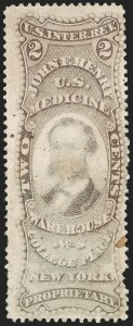 Sale Number 1206, Lot Number 838, Private Die ProprietaryJohn F. Henry, 2c Violet, Old Paper (RS112a), John F. Henry, 2c Violet, Old Paper (RS112a)