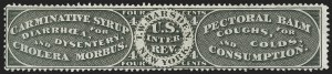 Sale Number 1206, Lot Number 846, Private Die ProprietaryT. W. Marsden, 4c Black, Old Paper (RS176a), T. W. Marsden, 4c Black, Old Paper (RS176a)