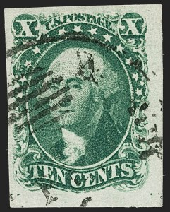 Sale Number 1206, Lot Number 85, 1851-56 Issue (Scott 8-17)10c Green, Ty. I (13), 10c Green, Ty. I (13)