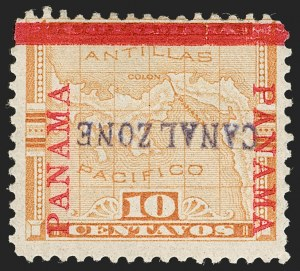 "Sale Number 1206, Lot Number 886, Canal Zone thru GuamCANAL ZONE, 1904, 10c Yellow, ""Canal Zone"" Inverted (3a), CANAL ZONE, 1904, 10c Yellow, ""Canal Zone"" Inverted (3a)"