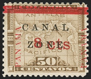 Sale Number 1206, Lot Number 889, Canal Zone thru GuamCANAL ZONE, 1904, 8c on 50c Bister Brown (15), CANAL ZONE, 1904, 8c on 50c Bister Brown (15)