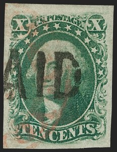 Sale Number 1206, Lot Number 89, 1851-56 Issue (Scott 8-17)10c Green, Ty. III (15), 10c Green, Ty. III (15)