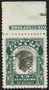 Sale Number 1206, Lot Number 891, Canal Zone thru GuamCANAL ZONE, 1907, 1c Green & Black, Ovpt. Reading Down, Inverted Center, Ovpt. Reading Up (22g), CANAL ZONE, 1907, 1c Green & Black, Ovpt. Reading Down, Inverted Center, Ovpt. Reading Up (22g)