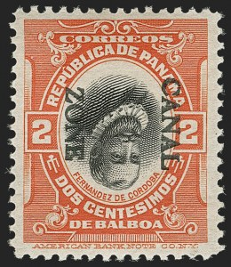 Sale Number 1206, Lot Number 893, Canal Zone thru GuamCANAL ZONE, 1912, 2c Vermilion & Black, Ovpt. Reading Down, Inverted Center (39e), CANAL ZONE, 1912, 2c Vermilion & Black, Ovpt. Reading Down, Inverted Center (39e)