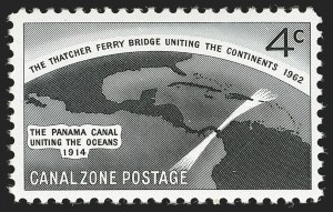Sale Number 1206, Lot Number 897, Canal Zone thru GuamCANAL ZONE, 1962, 4c Thatcher Ferry Bridge, Silver (Bridge) Omitted (157a), CANAL ZONE, 1962, 4c Thatcher Ferry Bridge, Silver (Bridge) Omitted (157a)