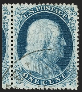 Sale Number 1206, Lot Number 91, 1857-60 Issue (Scott 21-39)1c Blue, Ty. III (21), 1c Blue, Ty. III (21)
