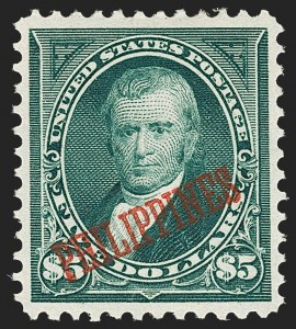 Sale Number 1206, Lot Number 912, PhilippinesPHILIPPINES, 1901, $5.00 Dark Green (225), PHILIPPINES, 1901, $5.00 Dark Green (225)