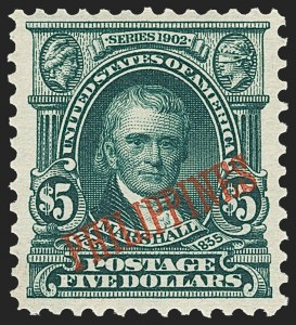 Sale Number 1206, Lot Number 913, PhilippinesPHILIPPINES, 1903, $5.00 Dark Green (239), PHILIPPINES, 1903, $5.00 Dark Green (239)