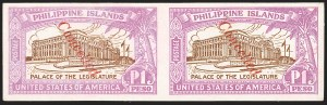 "Sale Number 1206, Lot Number 917, PhilippinesPHILIPPINES, 1926, 2c-1p Legislative Palace Issue, Imperforate on Glazed Cards, ""Cancelled"" Ovpt. (319S-S var-325S-S var), PHILIPPINES, 1926, 2c-1p Legislative Palace Issue, Imperforate on Glazed Cards, ""Cancelled"" Ovpt. (319S-S var-325S-S var)"