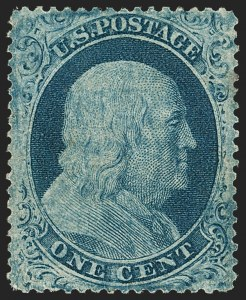 Sale Number 1206, Lot Number 92, 1857-60 Issue (Scott 21-39)1c Blue, Ty. IIIa (22), 1c Blue, Ty. IIIa (22)