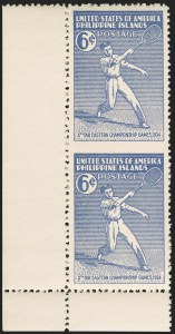Sale Number 1206, Lot Number 921, PhilippinesPHILIPPINES, 1934, 6c Tennis, Vertical Pair, Imperforate Between (381a), PHILIPPINES, 1934, 6c Tennis, Vertical Pair, Imperforate Between (381a)