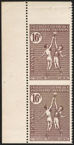 Sale Number 1206, Lot Number 922, PhilippinesPHILIPPINES, 1934, 16c Violet Brown, Vertical Pair, Imperforate Horizontally (382a), PHILIPPINES, 1934, 16c Violet Brown, Vertical Pair, Imperforate Horizontally (382a)
