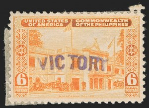 "Sale Number 1206, Lot Number 930, PhilippinesPHILIPPINES, 1944, 6c Orange, ""Victory"" Ovpt. (470), PHILIPPINES, 1944, 6c Orange, ""Victory"" Ovpt. (470)"