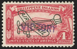 "Sale Number 1206, Lot Number 940, PhilippinesPHILIPPINES, 1944, 4c Rose Carmine, Air Post, ""Victory"" Ovpt. (C63), PHILIPPINES, 1944, 4c Rose Carmine, Air Post, ""Victory"" Ovpt. (C63)"