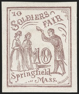 Sale Number 1206, Lot Number 964, Sanitary FairsSoldier's Fair, Springfield Mass., 10c Lilac (WV14), Soldier's Fair, Springfield Mass., 10c Lilac (WV14)