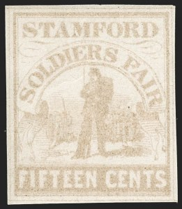 Sale Number 1206, Lot Number 965, Sanitary FairsSoldiers' Fair, Stamford Conn., 15c Pale Brown (WV15), Soldiers' Fair, Stamford Conn., 15c Pale Brown (WV15)