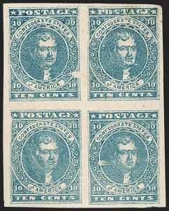 Sale Number 1206, Lot Number 997, Confederate States: General Issues off Cover10c Blue, Paterson (2), 10c Blue, Paterson (2)