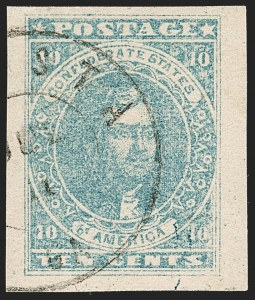 Sale Number 1206, Lot Number 998, Confederate States: General Issues off Cover10c Light Blue, Paterson (2a), 10c Light Blue, Paterson (2a)