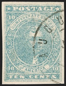 Sale Number 1206, Lot Number 999, Confederate States: General Issues off Cover10c Light Blue, Paterson (2a), 10c Light Blue, Paterson (2a)