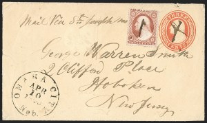 Sale Number 1207, Lot Number 31, Pony Express Covers3¢ Dull Red, Ty. III (26), 3¢ Dull Red, Ty. III (26)