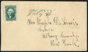 Sale Number 1207, Lot Number 32, Pony Express Covers10¢ Green, Ty. V (35), 10¢ Green, Ty. V (35)