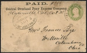Sale Number 1207, Lot Number 6, Pony Express Covers,