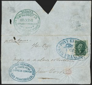 Sale Number 1207, Lot Number 8, Pony Express Covers,