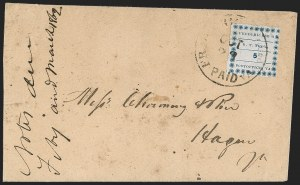 Sale Number 1208, Lot Number 107, Postmasters' ProvisionalsFredericksburg Va., 5c Blue on Thin Bluish (26X1), Fredericksburg Va., 5c Blue on Thin Bluish (26X1)