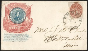 Sale Number 1208, Lot Number 116, Postmasters' ProvisionalsMemphis Tenn., 5c Red (56X2), Memphis Tenn., 5c Red (56X2)