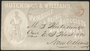 Sale Number 1208, Lot Number 124, Postmasters' ProvisionalsMontgomery Ala., 5c Red entire (59XU1), Montgomery Ala., 5c Red entire (59XU1)