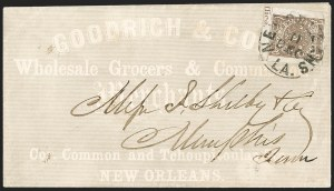Sale Number 1208, Lot Number 133, Postmasters' ProvisionalsNew Orleans La., 5c Yellow Brown on Off-White (62X5), New Orleans La., 5c Yellow Brown on Off-White (62X5)