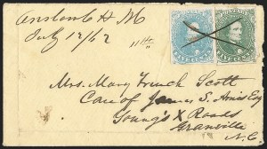 Sale Number 1208, Lot Number 139, General Issues5c Olive Green, Stone A-B (1c), 5c Olive Green, Stone A-B (1c)