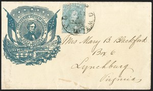 Sale Number 1208, Lot Number 150, Confederate Patriotic Covers5c Light Milky Blue, Stone 2 (4b), 5c Light Milky Blue, Stone 2 (4b)