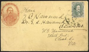 Sale Number 1208, Lot Number 151, Confederate Patriotic Covers5c Green, Stone 1-2 (1), 5c Green, Stone 1-2 (1)