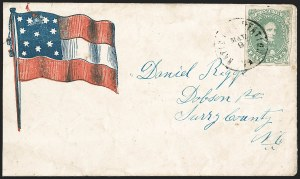 Sale Number 1208, Lot Number 155, Confederate Patriotic Covers5c Green, Stone 1-2 (1), 5c Green, Stone 1-2 (1)
