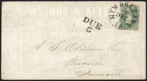 Sale Number 1208, Lot Number 212, Overall Advertising Covers5c Olive Green, Stone A-B (1c), 5c Olive Green, Stone A-B (1c)