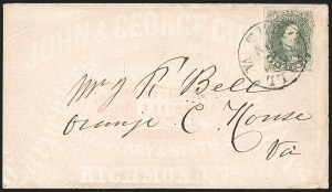Sale Number 1208, Lot Number 214, Overall Advertising Covers5c Green, Stone 1-2 (1), 5c Green, Stone 1-2 (1)