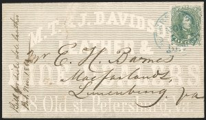 Sale Number 1208, Lot Number 216, Overall Advertising Covers5c Green, Stone 1-2 (1), 5c Green, Stone 1-2 (1)