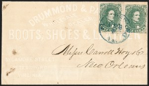 Sale Number 1208, Lot Number 217, Overall Advertising Covers5c Green, Stone 1-2 (1), 5c Green, Stone 1-2 (1)