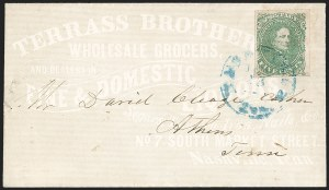 Sale Number 1208, Lot Number 218, Overall Advertising Covers5c Green, Stone 1-2 (1), 5c Green, Stone 1-2 (1)